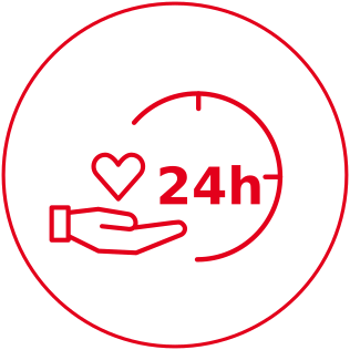 24 hour care icon
